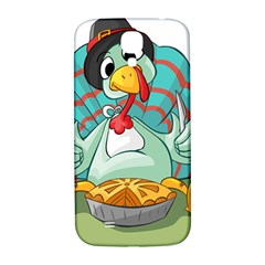Pie Turkey Eating Fork Knife Hat Samsung Galaxy S4 I9500/i9505  Hardshell Back Case by Nexatart