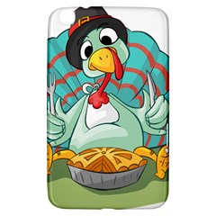 Pie Turkey Eating Fork Knife Hat Samsung Galaxy Tab 3 (8 ) T3100 Hardshell Case  by Nexatart