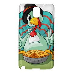 Pie Turkey Eating Fork Knife Hat Samsung Galaxy Note 3 N9005 Hardshell Case