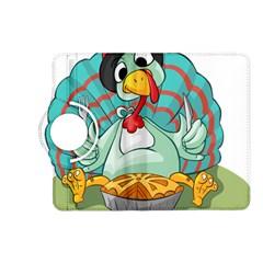 Pie Turkey Eating Fork Knife Hat Kindle Fire Hd (2013) Flip 360 Case by Nexatart