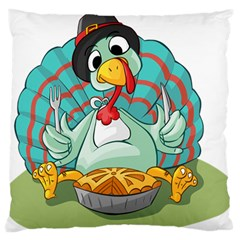 Pie Turkey Eating Fork Knife Hat Standard Flano Cushion Case (two Sides) by Nexatart