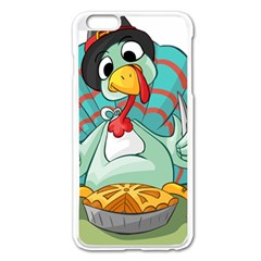 Pie Turkey Eating Fork Knife Hat Apple Iphone 6 Plus/6s Plus Enamel White Case