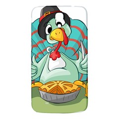 Pie Turkey Eating Fork Knife Hat Samsung Galaxy Mega I9200 Hardshell Back Case by Nexatart