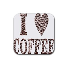 Love Heart Romance Passion Rubber Coaster (square)  by Nexatart