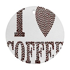 Love Heart Romance Passion Round Ornament (two Sides) by Nexatart