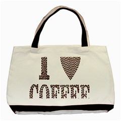 Love Heart Romance Passion Basic Tote Bag (two Sides)