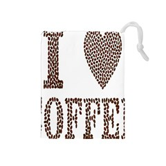 Love Heart Romance Passion Drawstring Pouches (medium)