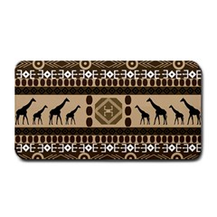 Giraffe African Vector Pattern Medium Bar Mats by BangZart