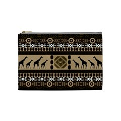 Giraffe African Vector Pattern Cosmetic Bag (medium)