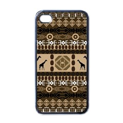 Giraffe African Vector Pattern Apple Iphone 4 Case (black)