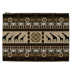 Giraffe African Vector Pattern Cosmetic Bag (xxl)  by BangZart