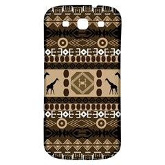 Giraffe African Vector Pattern Samsung Galaxy S3 S Iii Classic Hardshell Back Case by BangZart