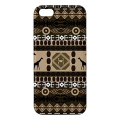Giraffe African Vector Pattern Apple Iphone 5 Premium Hardshell Case