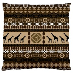 Giraffe African Vector Pattern Large Flano Cushion Case (two Sides)