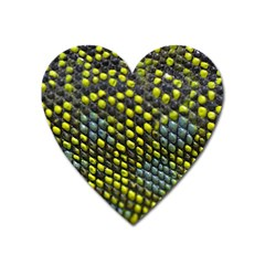 Lizard Animal Skin Heart Magnet