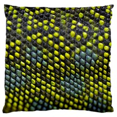 Lizard Animal Skin Large Flano Cushion Case (one Side)
