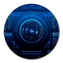 Technology Dashboard Round Mousepads