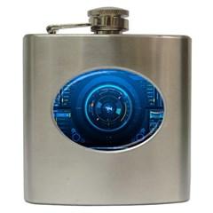 Technology Dashboard Hip Flask (6 Oz)
