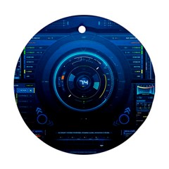 Technology Dashboard Round Ornament (two Sides)