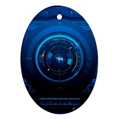 Technology Dashboard Oval Ornament (two Sides)