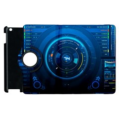 Technology Dashboard Apple Ipad 3/4 Flip 360 Case by BangZart