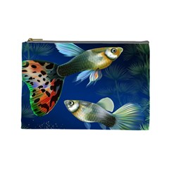 Marine Fishes Cosmetic Bag (large)