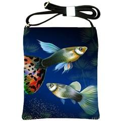 Marine Fishes Shoulder Sling Bags
