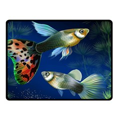 Marine Fishes Double Sided Fleece Blanket (small)  by BangZart