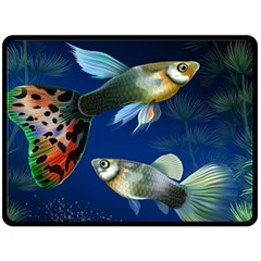 Marine Fishes Double Sided Fleece Blanket (large)  by BangZart
