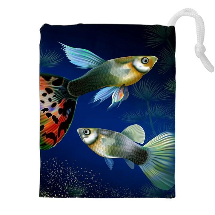 Marine Fishes Drawstring Pouches (XXL)