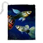 Marine Fishes Drawstring Pouches (XXL) Back