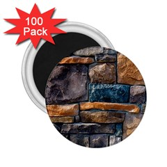 Brick Wall Pattern 2 25  Magnets (100 Pack)