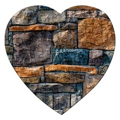 Brick Wall Pattern Jigsaw Puzzle (heart)