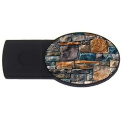 Brick Wall Pattern Usb Flash Drive Oval (4 Gb)