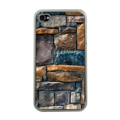Brick Wall Pattern Apple Iphone 4 Case (clear)
