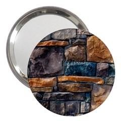 Brick Wall Pattern 3  Handbag Mirrors