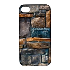 Brick Wall Pattern Apple Iphone 4/4s Hardshell Case With Stand