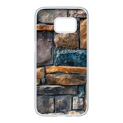 Brick Wall Pattern Samsung Galaxy S7 Edge White Seamless Case