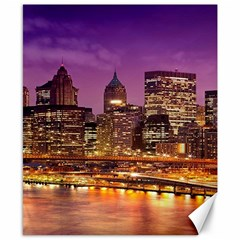 City Night Canvas 8  X 10  by BangZart