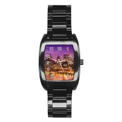 City Night Stainless Steel Barrel Watch