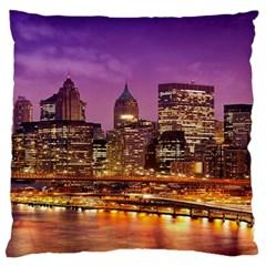 City Night Standard Flano Cushion Case (one Side)