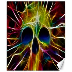Skulls Multicolor Fractalius Colors Colorful Canvas 8  X 10