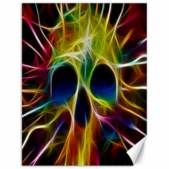 Skulls Multicolor Fractalius Colors Colorful Canvas 18  X 24
