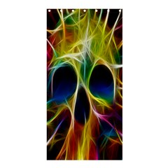 Skulls Multicolor Fractalius Colors Colorful Shower Curtain 36  X 72  (stall)  by BangZart