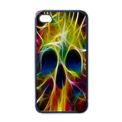 Skulls Multicolor Fractalius Colors Colorful Apple Iphone 4 Case (black)