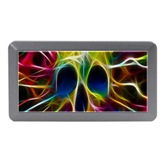 Skulls Multicolor Fractalius Colors Colorful Memory Card Reader (mini) by BangZart