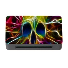 Skulls Multicolor Fractalius Colors Colorful Memory Card Reader With Cf