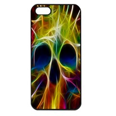 Skulls Multicolor Fractalius Colors Colorful Apple Iphone 5 Seamless Case (black) by BangZart