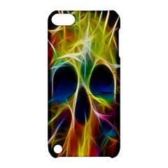Skulls Multicolor Fractalius Colors Colorful Apple Ipod Touch 5 Hardshell Case With Stand by BangZart