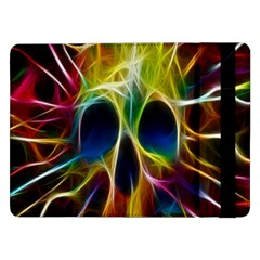 Skulls Multicolor Fractalius Colors Colorful Samsung Galaxy Tab Pro 12 2  Flip Case